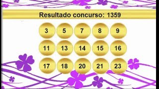 sorteio resultado lotofacil 1359 palpite 1360