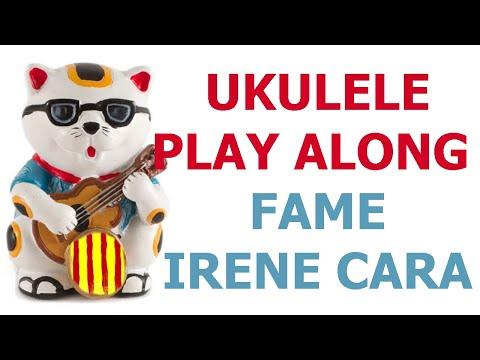 Fame - Irene Cara - Ukulele cover play along with chords and lyrics