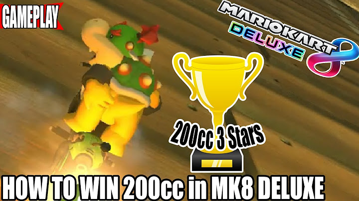 how to get 3 stars on 200cc every time  mario kart 8 deluxe