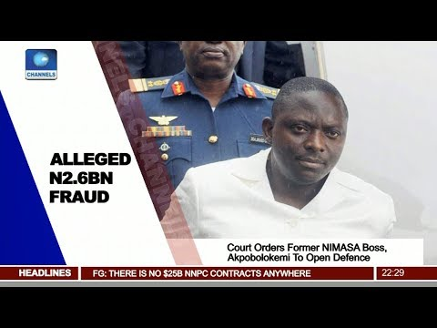 Court Holds That Fmr NIMASA DG, Akpobolokemi Has Case To Answer Pt.2 |News@10| 16/10/17