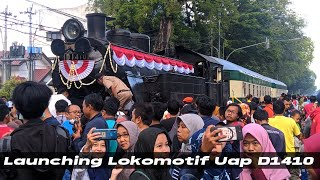 Gambar cover Launching Lokomotif Uap D1410 + 2 Kereta Djoko Kendil