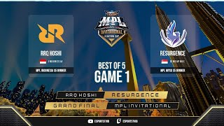 RRQ Hoshi vs Resurgence GAME 1 Grand final MPL Invitational | RRQ vs RSG ESPORTSTV
