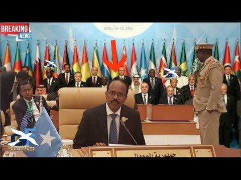 DEG DEG Daawo MD Farmaajo o somalida sharaf uso Hoyay si adagna uga hadlay arinta Qudus