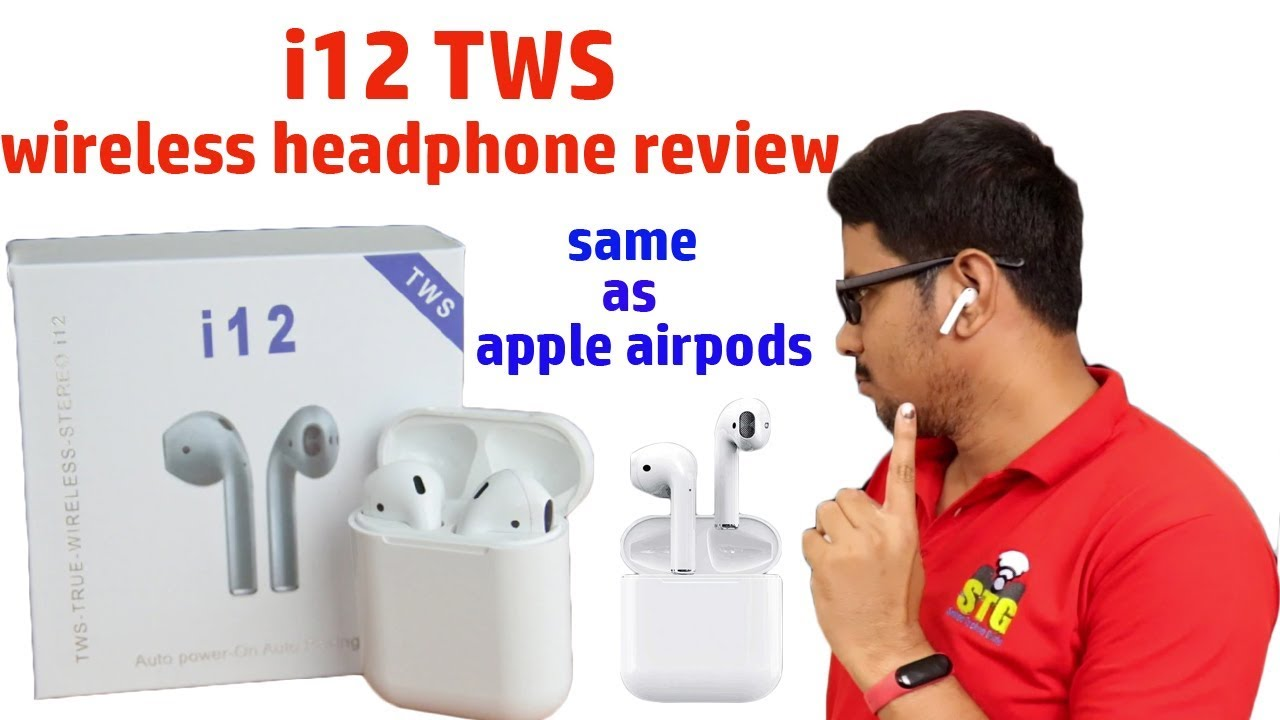 Hindi || i12 TWS wireless headphone review true copy of apple air pods