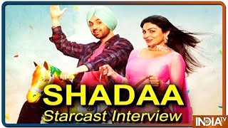 Diljit dosanjh and Neeru bajwa Exclusive Interview for Punjabi Movie Shadaa