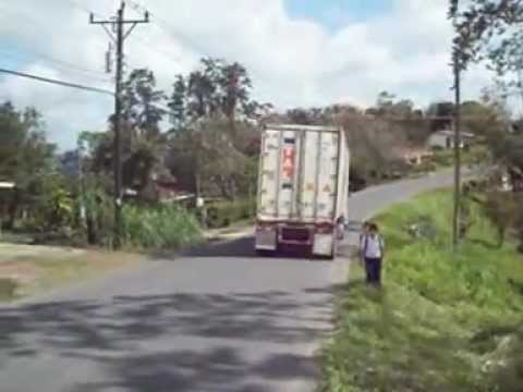 No sidewalk in San Miguel, Costa Rica