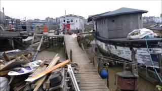 House boats in Shoreham by Sea - Adur river UK