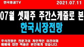 7월 셋째주 주간스케줄로 본 한국시장전망!!