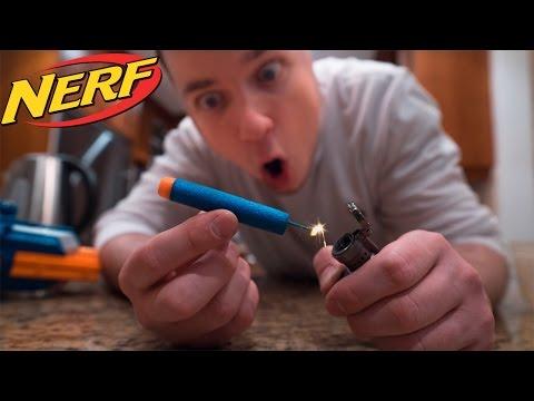 EXPLODING NERF GUN DARTS!!! (Experiment)
