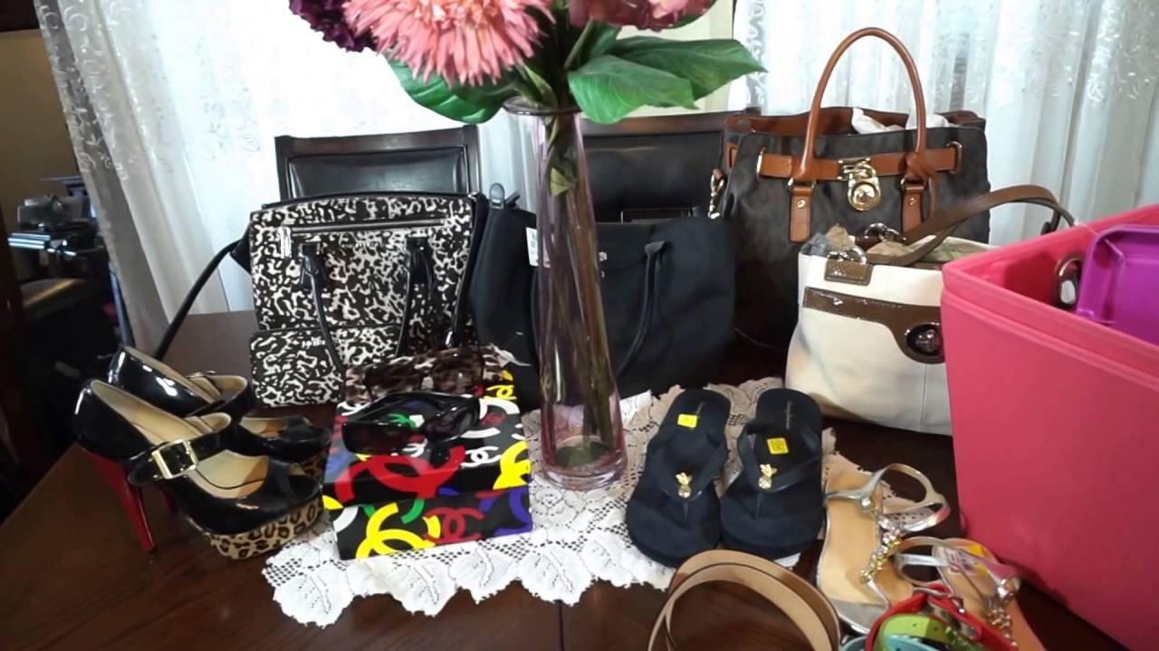14e362abb1ea Huge Thrift Haul Michael Kors Coach Kate Spade Handbags Shoes - YouTube