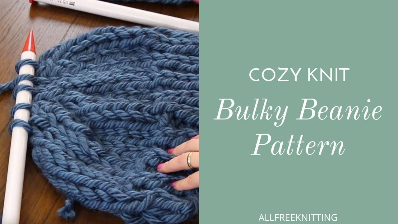 Cozy Bulky Hat Knitting Pattern. AllFreeKnitting 19fbaaf7fb6