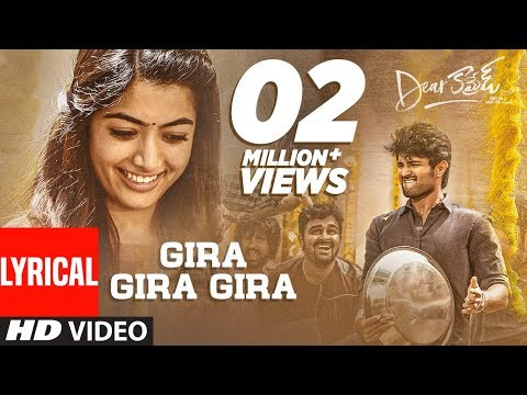 dear-comrade-telugu---gira-gira-gira-lyrical-video-song-|-vijay-deverakonda-|-rashmika-|bharat-kamma