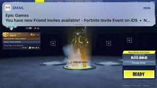 Codes d'invitation mobile gratuits de Fortnite
