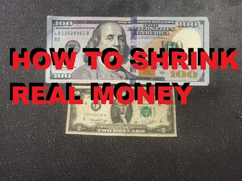 Amazing Shrunken Money 2 Dollar Bill