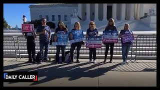 Moms For America Show Up To Supreme Court To Support Amy Coney Barrett