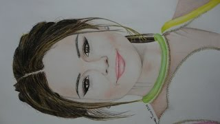 Drawing Selena Gomez (speed) - James Tovar | Dibujando a Selena Gomez