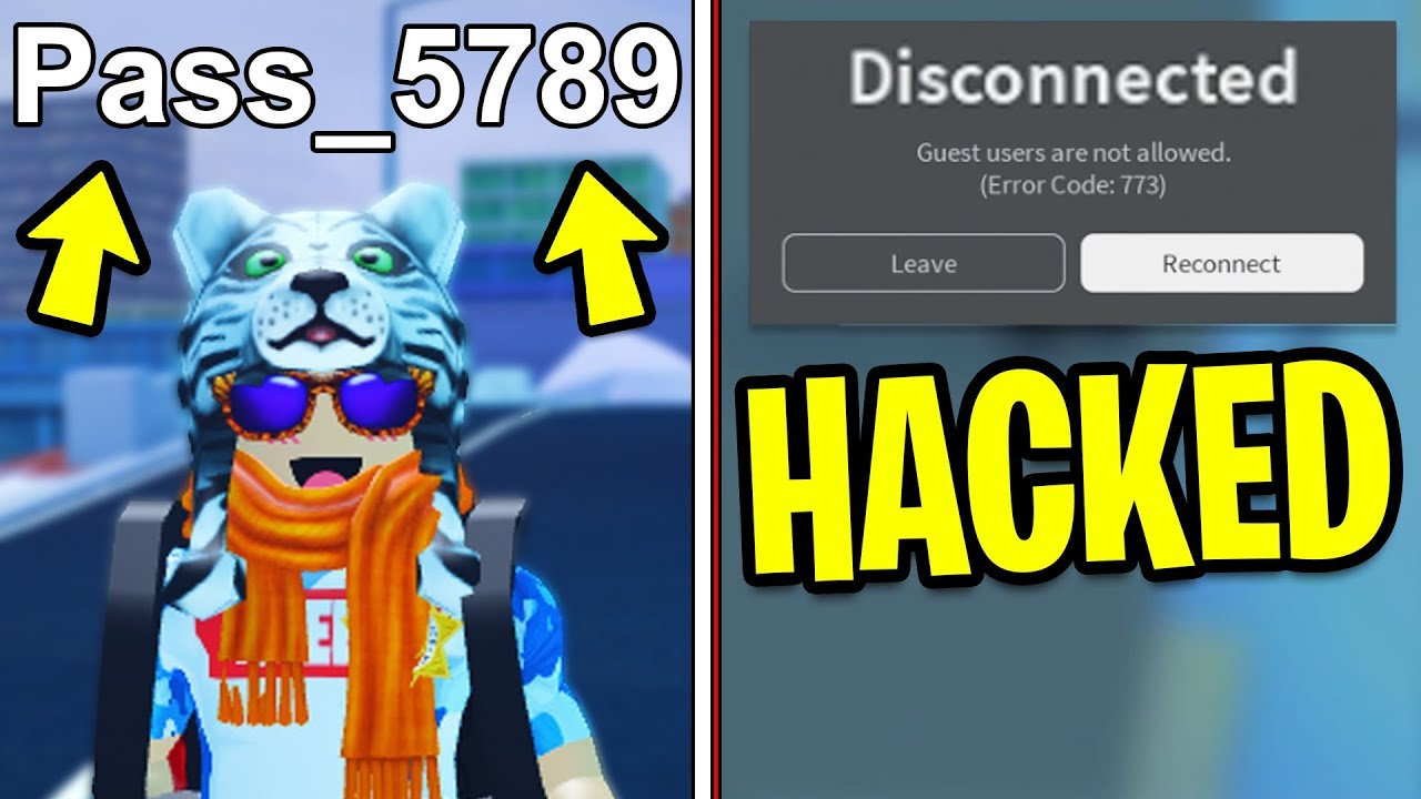 Putting My Password In My Roblox Name Hacked Roblox