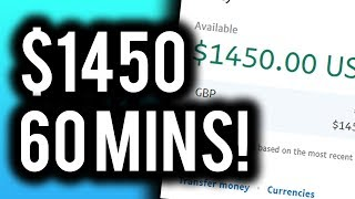 Earn $1450 in 60 minutes! this method could change your life! a step by guide to making big money online! watch until the end! ➥ subscribe learn more...