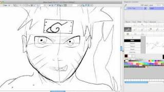 My Attempt To Draw Naruto (Mastered Nine Tails Chakra) with My New Tablet