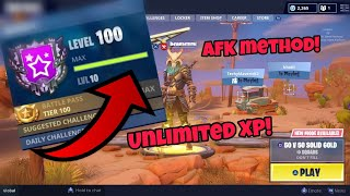 Unlimited XP Rank Up Fast (AFK Method) Fortnite Glitches Season 5 PS4/Xbox one 2018