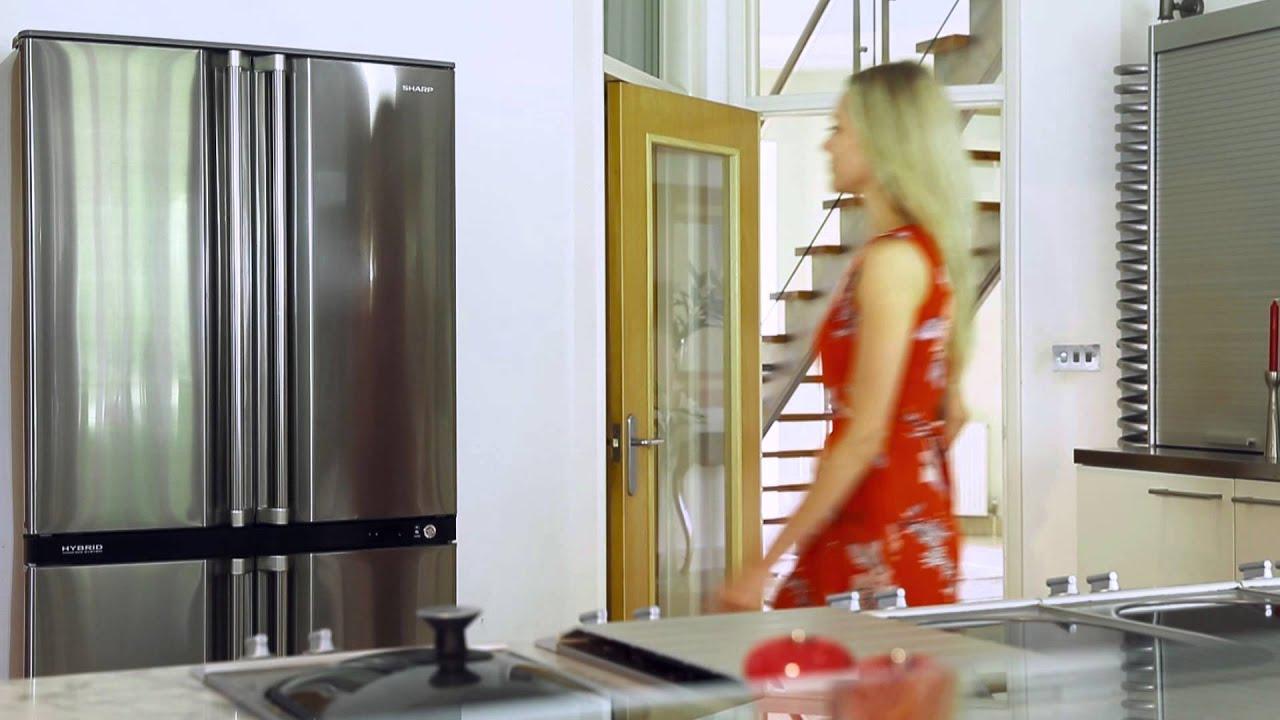 Sj F790stsl Sharp S New Four Door Bottom Freezer