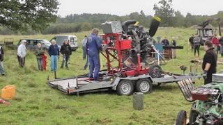 Repeat youtube video Gammal grävmaskin (Old wire rope Excavator )