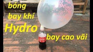 hướng dẫn làm bóng bay khí hidro từ vỏ lon coca cola