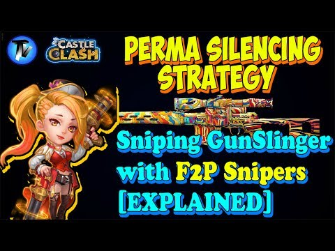 Castle Clash - Perma Silencing Strategy For GunSlinger In GW [F2P Account And Heroes]