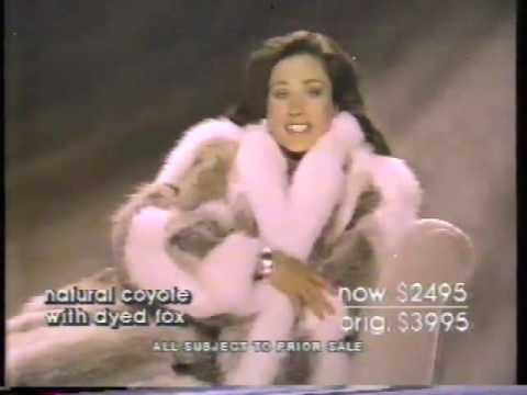 Erin Gray 1986 Bloomingdale's Fur Sale Commercial