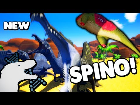 Archotek Project - NEW BI-PEDAL SPINO BATTLES OTHER DINOS, CORPSE SYSTEM  UPDATE & MORE ( Gameplay )