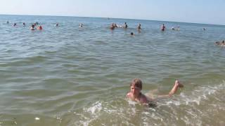 Побережье Черного моря Затока,  июль 2016 (Одесская обл.)(Чистый песочный пляж, чистое и теплое море., 2016-07-03T09:34:24.000Z)