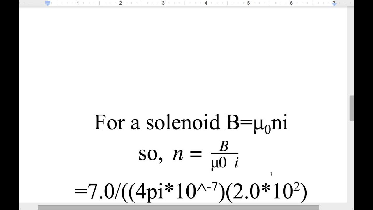How to find the number of turns in a solenoid