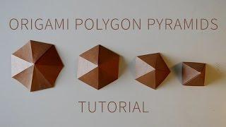 Origami Polygon Pyramid Tutorial