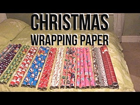 Vlogmas Day 6 Wrapping paper at the ready