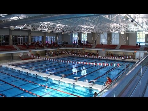 state of the art olympic size swimming pool at denison university youtube
