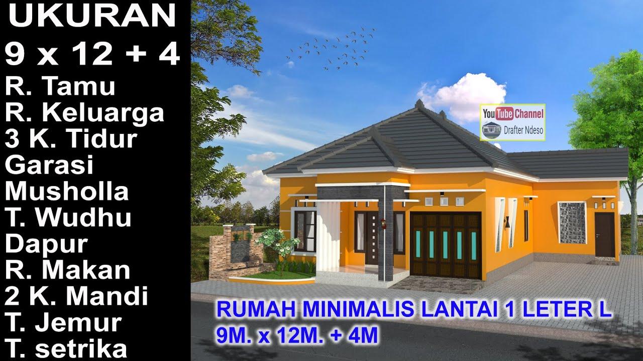 Modern House Leter L 9x12 4 3 K Tidur Desain Rumah Minimalis Lantai 1 Youtube