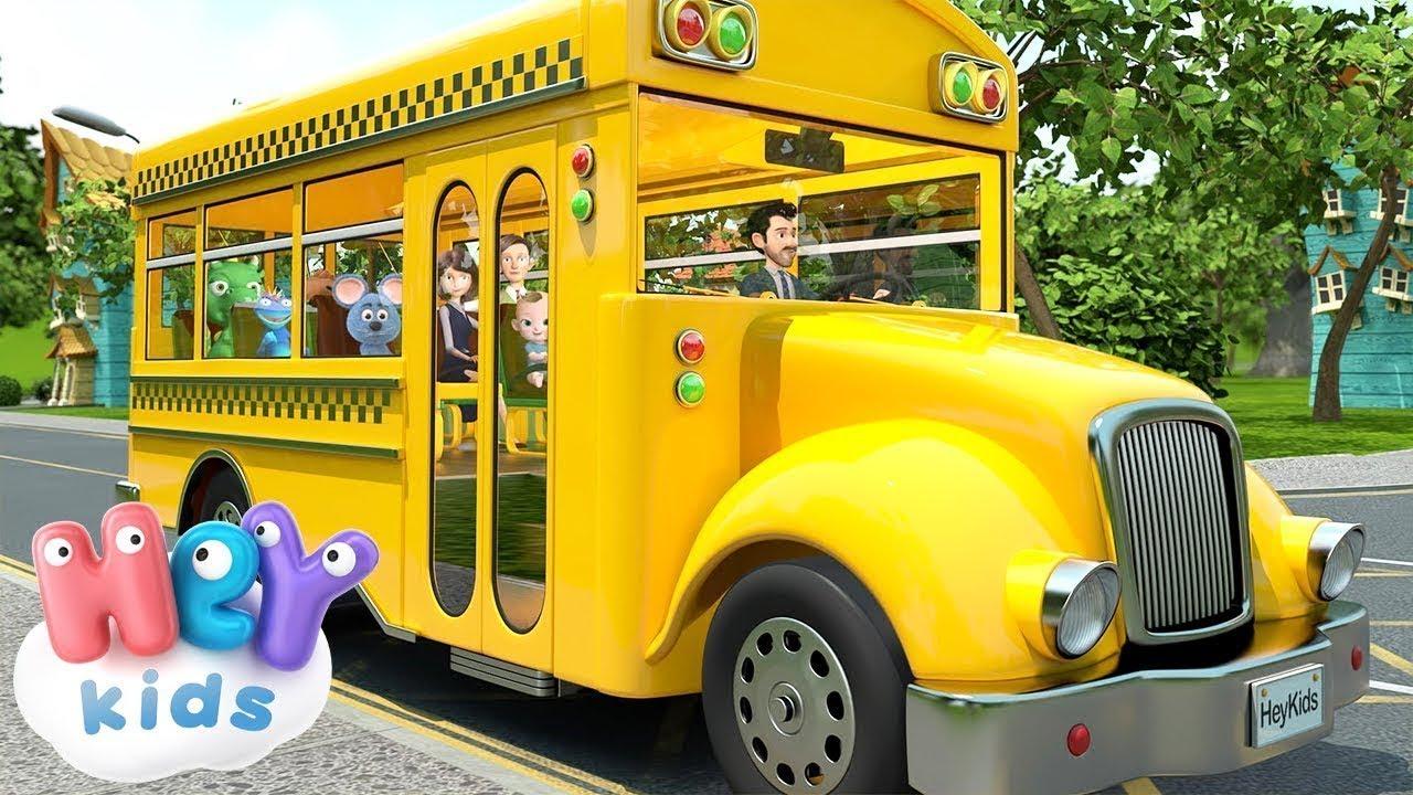 Otobüsün Tekerleği Yuvarlak | Otobüs Şarkısı | HeyKids - Bebek Şarkıları