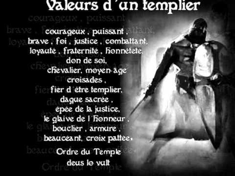 valeurs d'un templier.