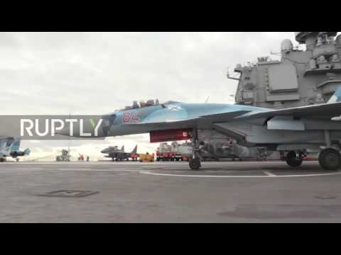 International Waters: Russia's Admiral Kuznetsov aircraft carrier passes through W. Med