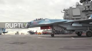 international waters russia s admiral kuznetsov aircraft carrier passes through w med
