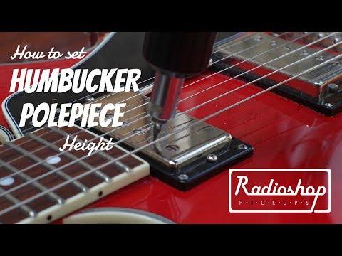 How to set Humbucker Polepiece Screw Height