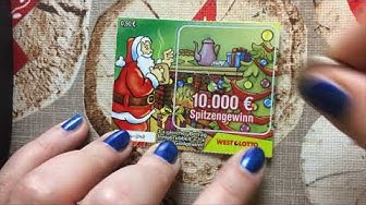 Rubbelllos Adventskalender von West Lotto