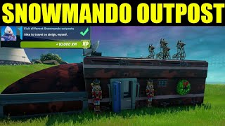 "How to ""Visit different snowmando outposts"" & Search Chests  - Fortnite Snowmando outpost Locations"