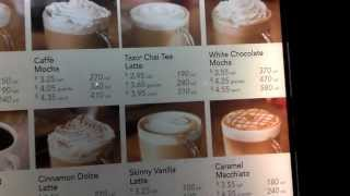 Starbucks Menu with Prices & Calories in 1080p HD