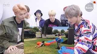 "BTS REACTION ""Try Not to Laugh Challenge: Funny Kids Fails Funny Videos 2018"" 방탄소년단"