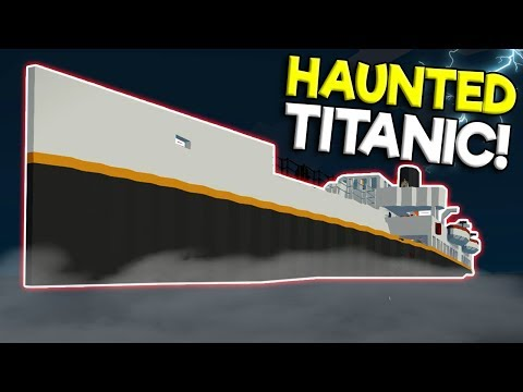 HAUNTED TITANIC SINKING SHIP SURVIVAL! - Stormworks: Build and Rescue Gameplay - Ghost Ship Survival