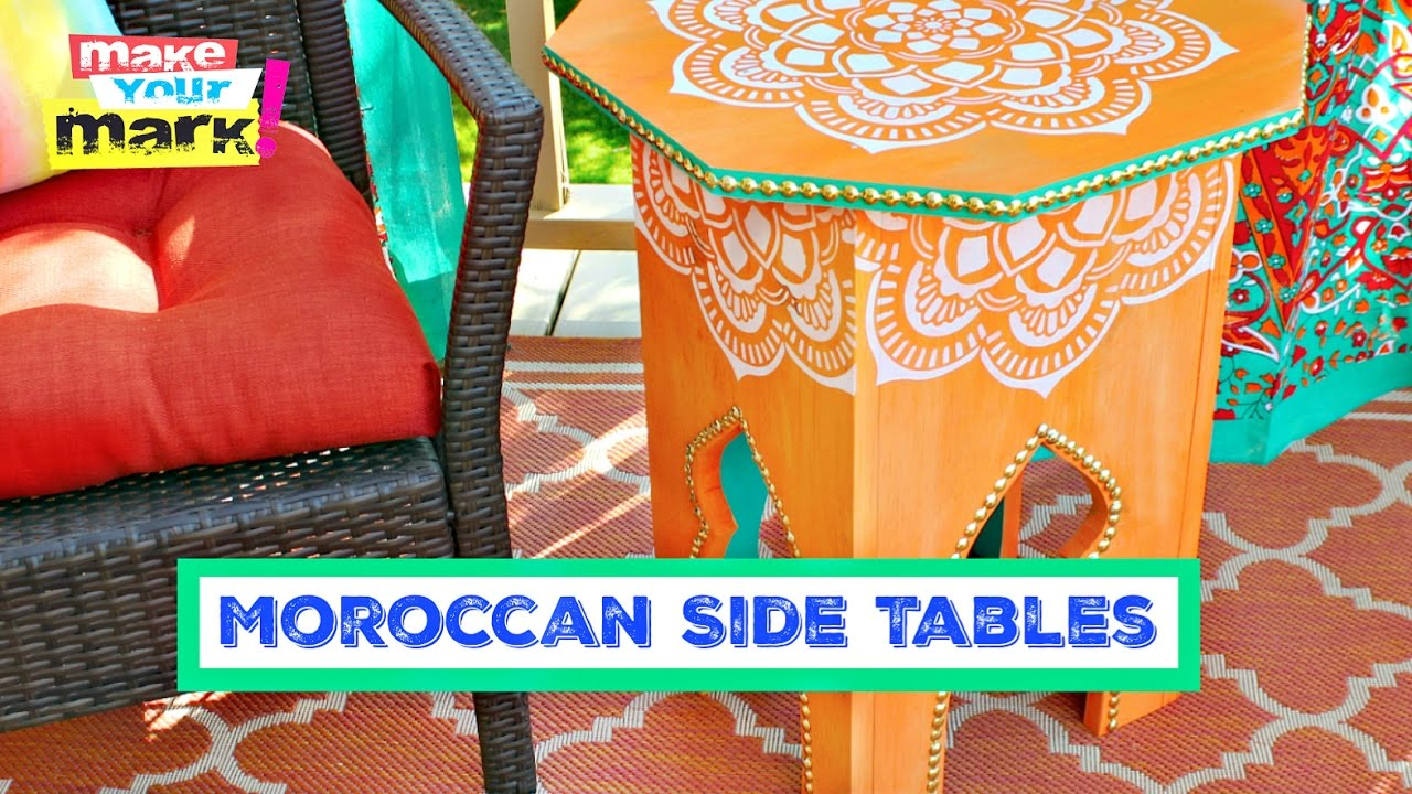 How To: Moroccan Side Table DIY