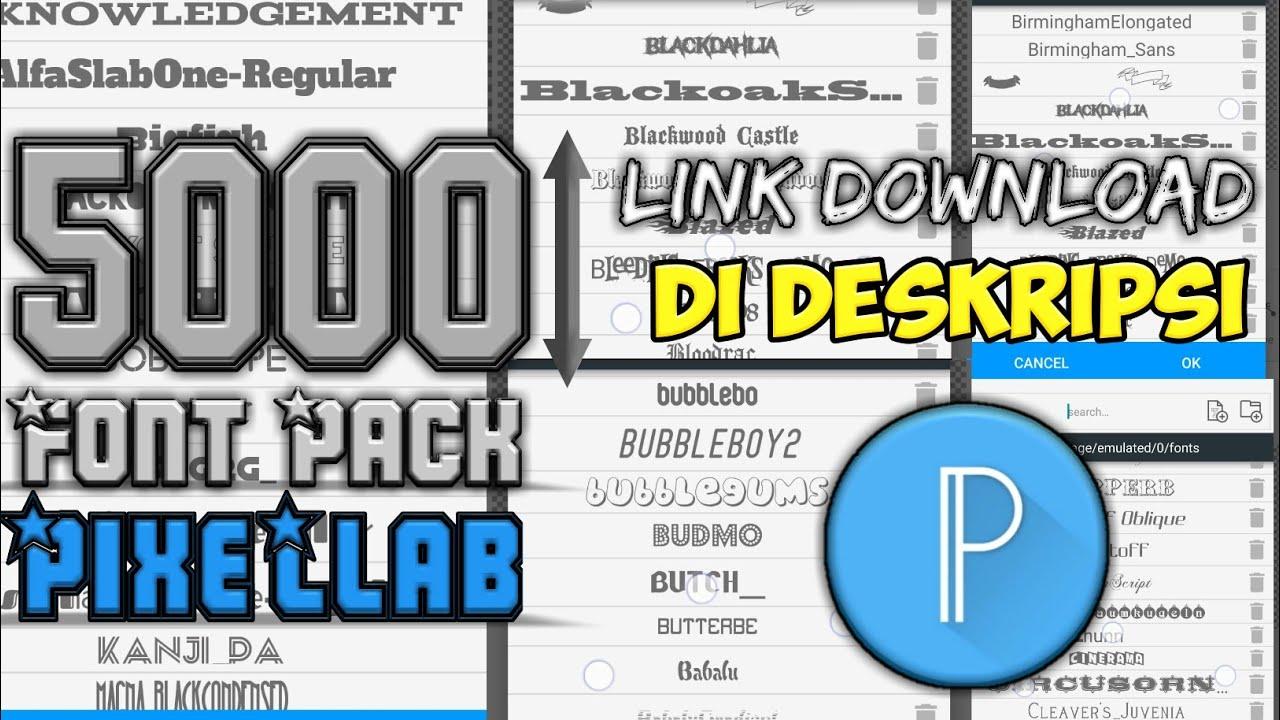Download 5000 Pack Font Pixellab || Link Download di deskripsi ...