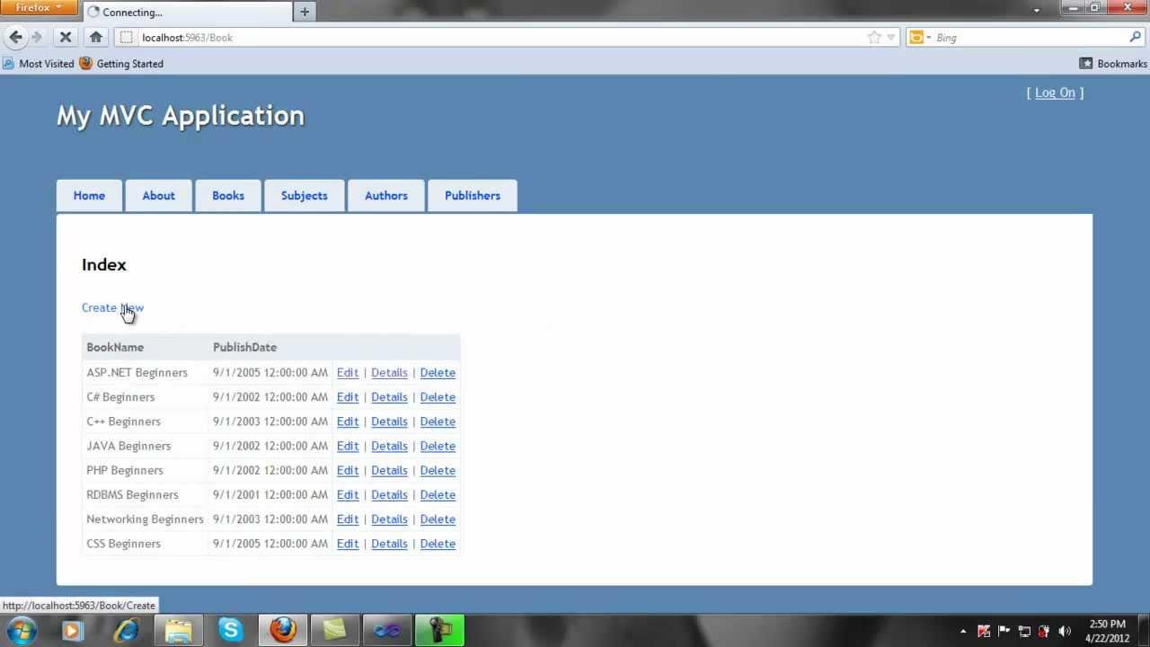 ASP.NET MVC 3 tutorial Part-1 - ViYoutube