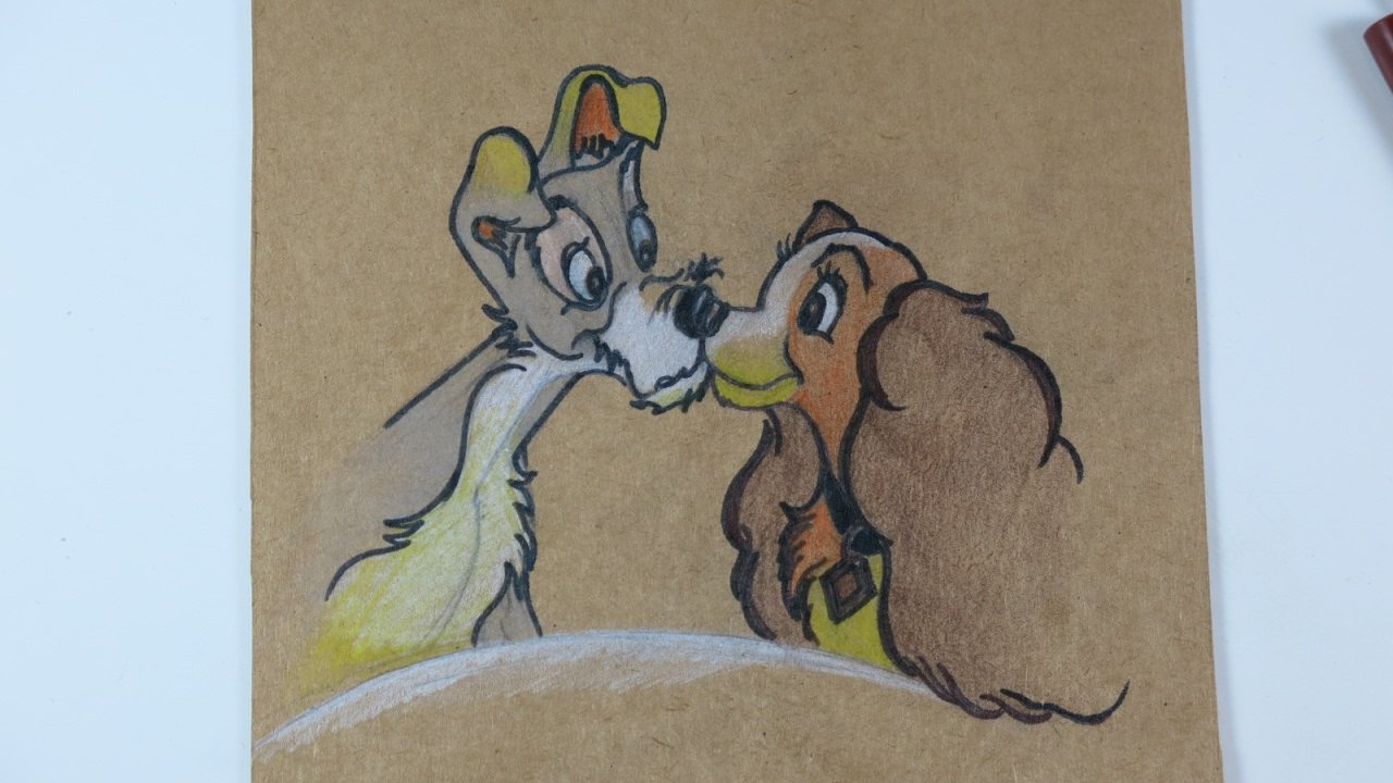 Diy Drawing Lady And The Tramp Youtube